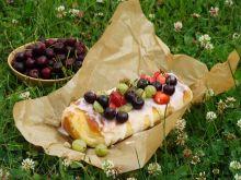 Zwijane ciasto z owocami