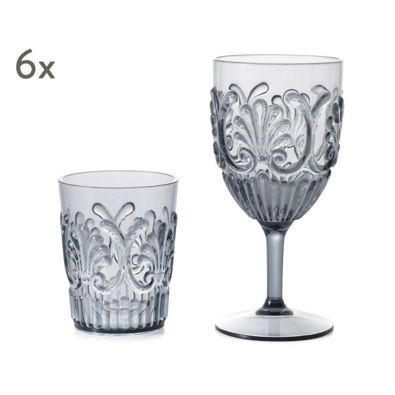 """Komplet 6 szklanek i 6 kieliszków """"Ossy"""""""