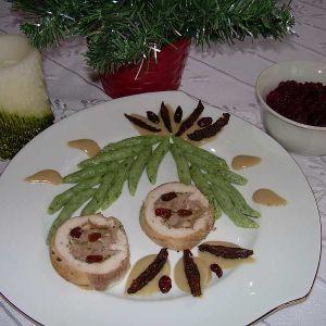 Bożonarodzeniowa galązka - Święta zainspirowały mnie do stworzenia takiego niecodziennego obiadu, goście byli zachwyceni