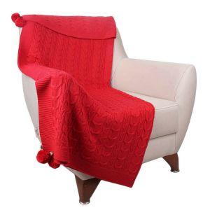 Czerwony pled Ramiro Red