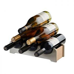 Drewniany stojak na wino vintage