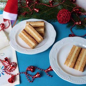 Miodowo-cytrynowe ciasto - Ciasto można przełożyć masą z kaszy manny