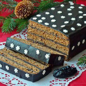 Piernik staropolski z suszonymi śliwkami - Jeden z najlepszych pierników, którego nie może zabraknąć na świątecznym stole.