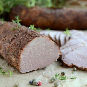 Polędwiczka a'la łososiowa - Zapraszam na pyszną, domową wędlinę. smacznego :)