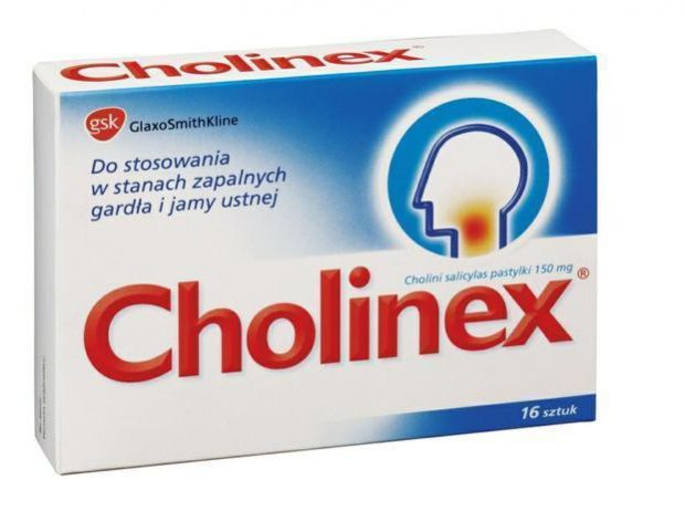 Cholinex - na ból gardła.