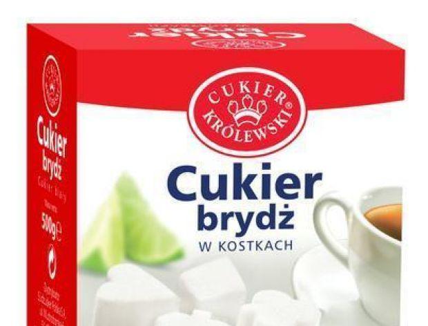Cukier biały i brydż w kostkach