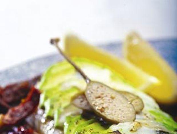 Filety z halibuta z zapiekanym awokado