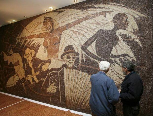 Gigantyczna mozaika z kawy