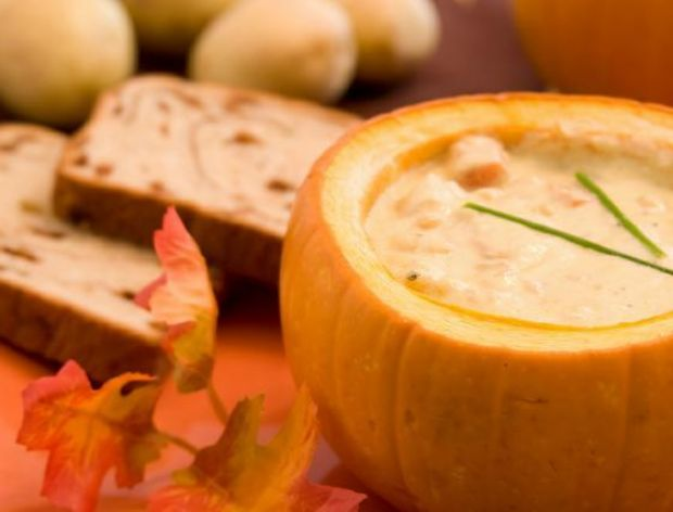 Jesienna zupa imbirowo-dyniowa