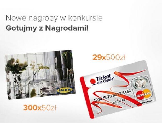 Karty IKEA i przedpłacone w konkursie Gotujmy z Nagrodami!