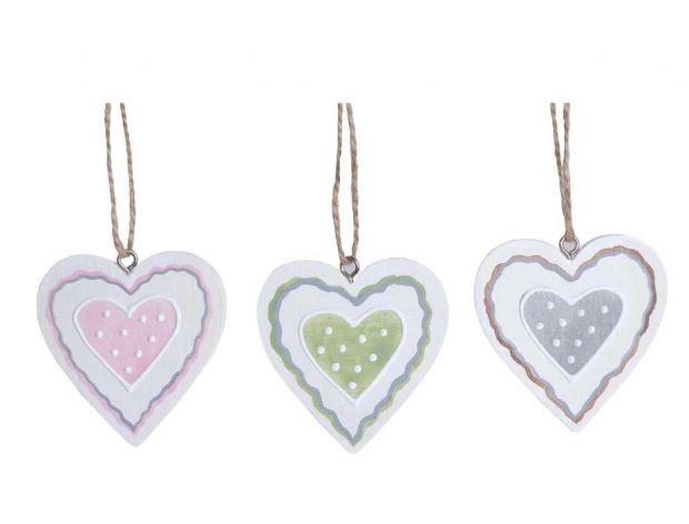 Komplet 12 wiszących dekoracji Heart