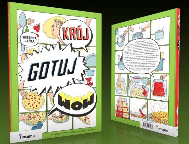 """Krój, gotuj, wow"" - komiksowa książka kucharska"