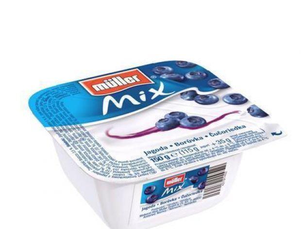 Müller Mix - jagodowy jogurt