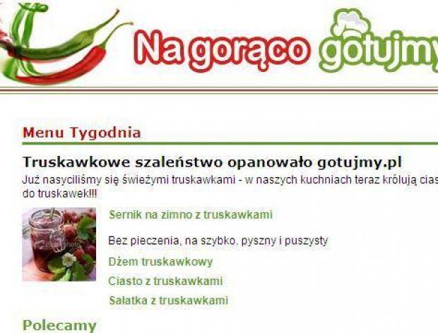 Na gorąco gotujmy.pl!  Start newslettera