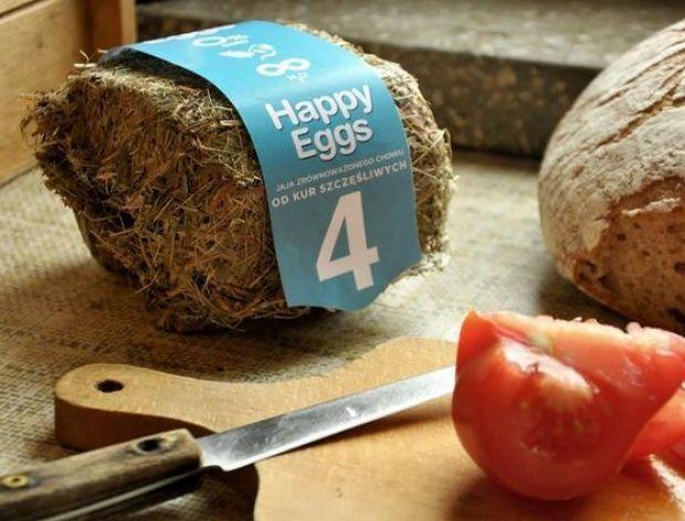 Opakowanie na jajka zrobione z... siana!