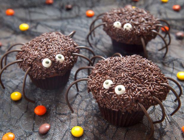 Pająki czekoladowe na halloween