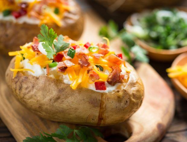 Ziemniaki faszerowane pieczone