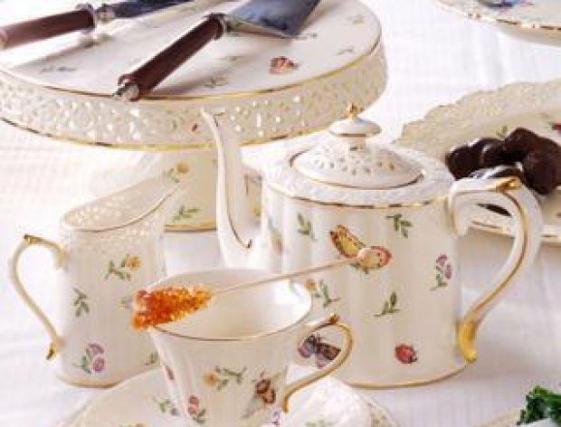 Porcelana - herbaciany zestaw