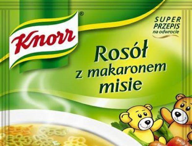 Rosół z makaronem misie Knorr