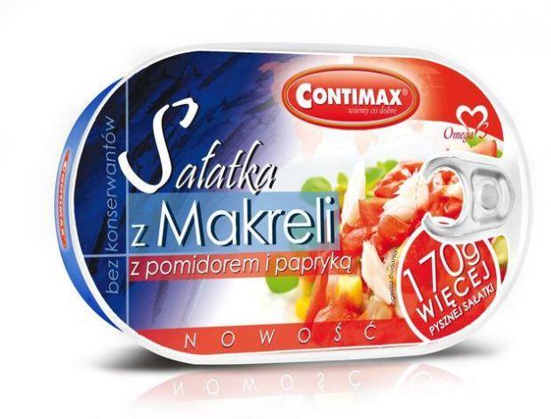 Sałatka z makreli z pomidorem i papryką