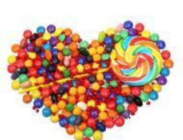 Sprzedaż słodyczy w walentynki