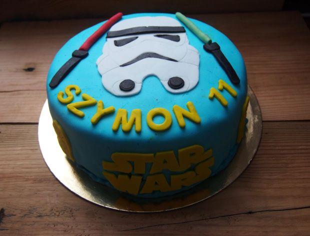 Tort z masą cukrową Star Wars