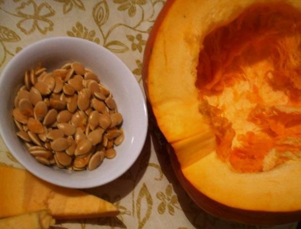 Ususzone w piekarniku pestki dyni