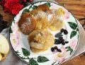 Amarantusowe placuszki z jabłkiem i rodzynkami