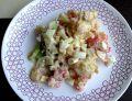 Brokułowo - kalafiorowa sałatka z jajkiem