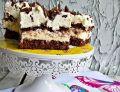 Budyniowo - śmietanowo - czekoladowe ciasto