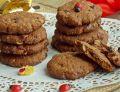 Czekoladowe owsiane ciasteczka z żurawiną