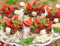 Czekoladowo truskawkowe bezy