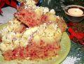 Drożdżowe ciasto z burakiem, fasolą, jabłkami