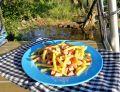 Fasolka szparagowa ze skwarkami i czosnkiem