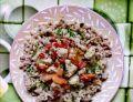 Filet z indyka z kolorowymi warzywami