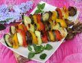 Grillowane szaszłyki z wątróbką i warzywami