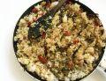 Jaglano-ryż z pieczarkami i szynką szwarcwaldzką