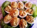 Jajka faszerowane żółtkami kaszą i podagrycznikiem