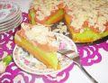 Kubusiowy torcik z brzoskwiniami i migdałami