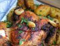 Kurczak pieczony z ziemniakami i czosnkiem