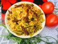 Makaron z warzywami i suszonymi pomidorami