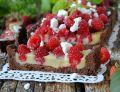 Malinowo- czekoladowa tarta
