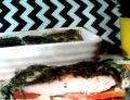 Marchewkowa zapiekanka pod szpinakową kołderką