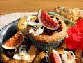 Muffiny orzechowo-kokosowe z figami