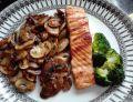 Obiad nr 1 Łosoś z pieczarkami Dieta 1200 kalorii