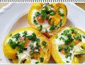 Papryka Eli, grillowana z jajkami i szczypiorem