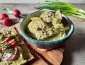 Pasta z zielonego groszku i ciecierzycy