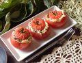 Pomidory malinowe ze szpinakiem