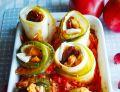 Roladki z cukinii z kurczakiem i serem camembert