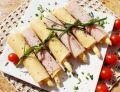 Roladki ze szparagami marynowanymi - z sera i szynki